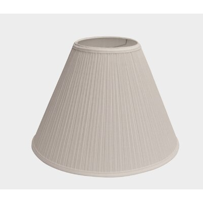 Pleated Fabric 17 Empire Lamp Shade Finish: Off White
