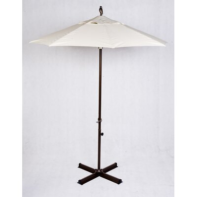 7 Shade Market Umbrella Frame: Silver
