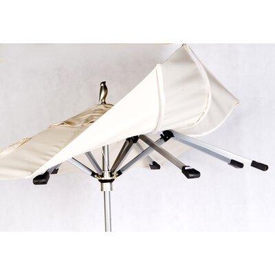 9 Shade Market Umbrella Frame: Silver