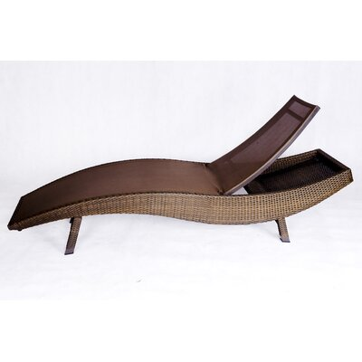 Cot resort chaise lounge fabric color taupe weave for Blue sling chaise lounge