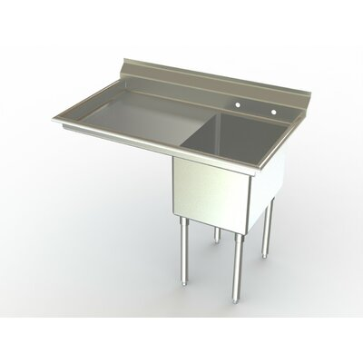 Deluxe NSF 38 x 27 Single Service Sink Left