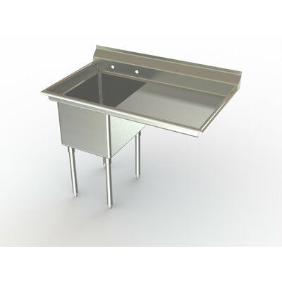 Economy NSF 54 x 27 Single Service Sink Right Hand Drainboard