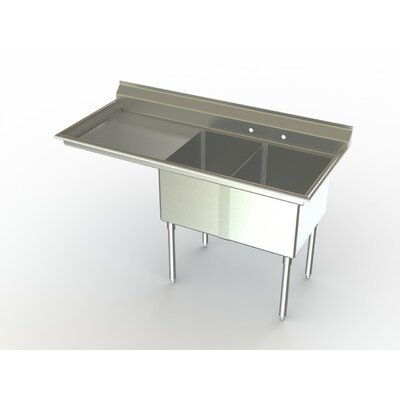 Deluxe NSF 54 x 27 Double Service Sink Left