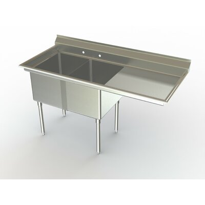Deluxe NSF 54 x 27 Double Service Sink Right