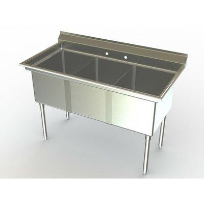 Deluxe NSF 54 x 27 Triple Service Sink