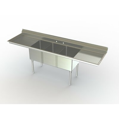 Deluxe NSF 38 x 27 Triple Service Sink Right