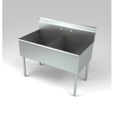 Deluxe Non NSF 39 x 25 Double Service Sink