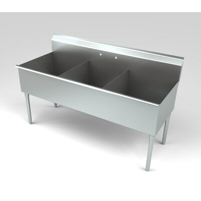 Deluxe Non NSF 57 x 25 Triple Service Sink