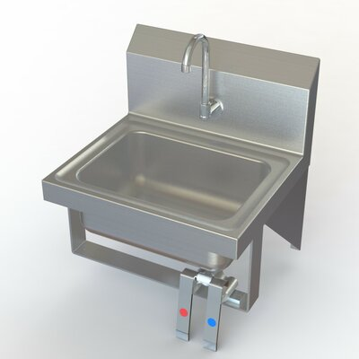 NSF 17 x 15 Single Knee Operated Hand Sink with Faucet