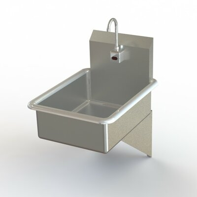 NSF 19 x 25 Single Wall Mount Bathroom Hand Sink with Faucet