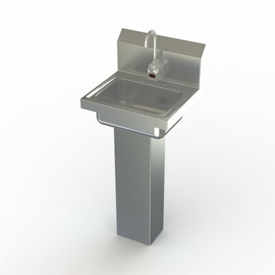 NSF 17 x 15 Single Commercial Hand Sink with Faucet