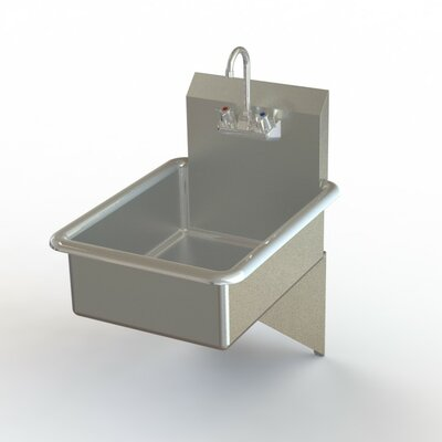 NSF 19 x 25 Single Wall Mounted Bathroom Hand Sink with Faucet
