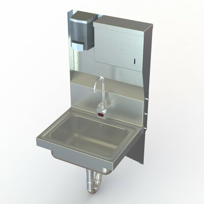 NSF 17 x 15 Single Industrial Hand Sink with Faucet