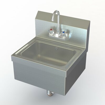 NSF 17 x 15 Single Extra Heavy Duty Hand Sink with Faucet