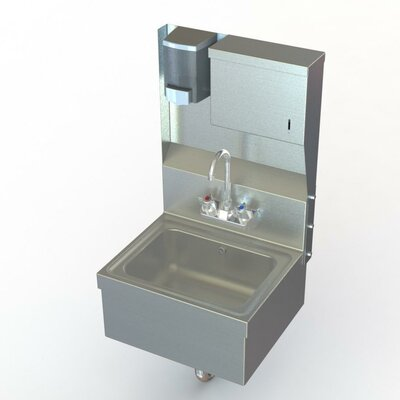NSF 17 x 15 Single Hand Wash Sink with Faucet