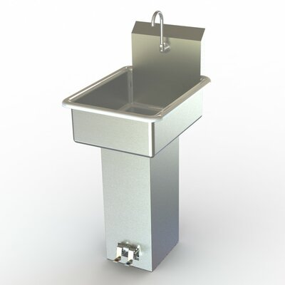 NSF 19 x 25 Single Foot Pedal Bathroom Hand Sink