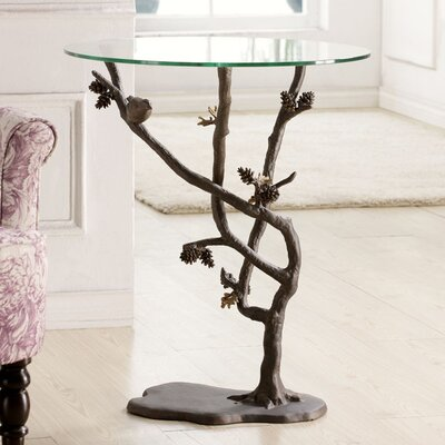 Easy financing Bird and Pinecone End Table...