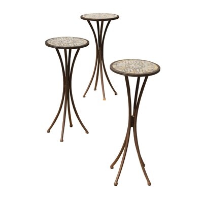 Eden Round Plant Stand Finish: Marble Stone