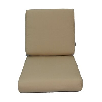 Edina Outdoor Sunbrella Lounge Chair Cushion Fabric: Sunbrella Canvas Beige