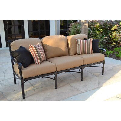 Edina Sofa with Cushions Finish: Black, Fabric: Beige