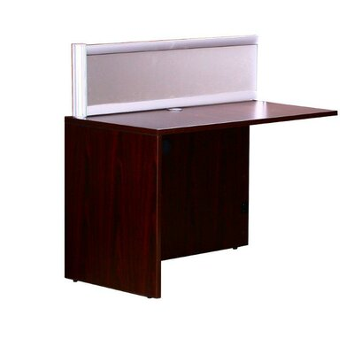 Reception 42.5 H x 36 W Reversible Desk Return Finish: Mahogany
