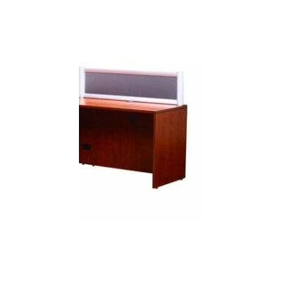 Reception 42.5 H x 36 W Reversible Desk Return Finish: Cherry