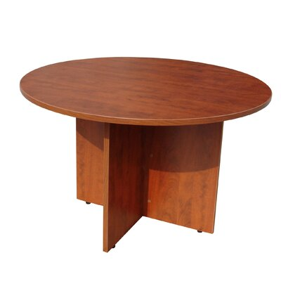 Laminate Series Circular Conference Table Color: Mahogany, Size: 3 6 L