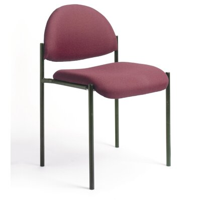 Contemporary Armless Fabric Stackable Guest Chair Seat Finish: Burgundy Fabric