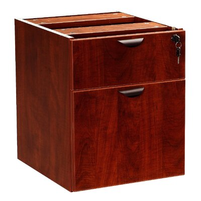 Case Goods 19 H x 16 W Desk File Pedestal Color: Mahogany