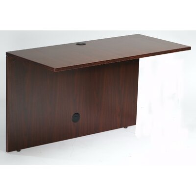 Case Goods 29 H x 48 W Desk Bridge Color: Mahogany