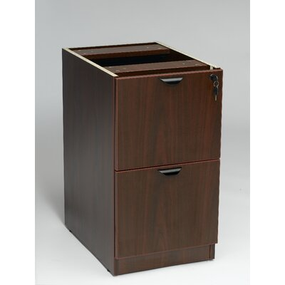 Case Goods 28.5 H x 16 W Desk File Pedestal Color: Mahogany