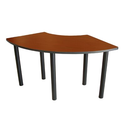 59 W Crescent Training Table Tabletop Finish: Cherry