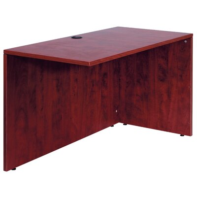 29.5 H x 36 W Reversible Desk Return Finish: Mahogany