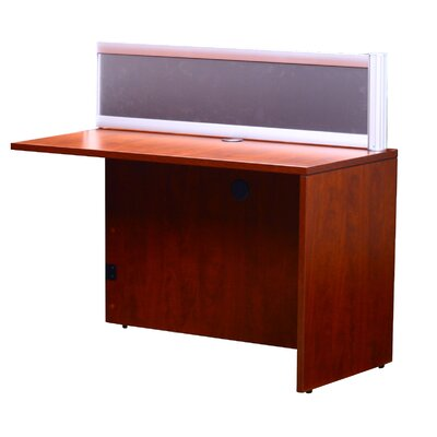 Reception 42.5 H x 48 W Reversible Desk Return Finish: Cherry
