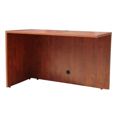 29.5 H x 48 W Reversible Desk Return Color: Cherry
