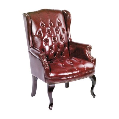 The Boss Traditional Series Lounge Chair Upholstery: Oxblood Vinyl