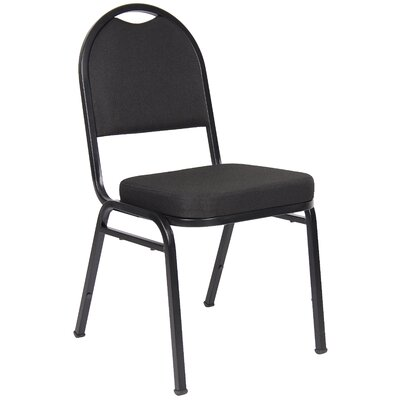 Banquet Guest Chair Seat Finish: Black Crepe