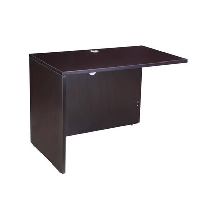 29.5 H x 42 W Right Desk Return Color: Mocha