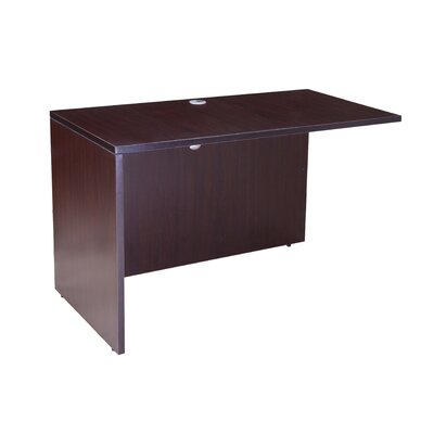 29.5 H x 48 W Reversible Desk Return Color: Mocha