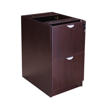 Case Goods 28.5 H x 16 W Desk File Pedestal Color: Mocha
