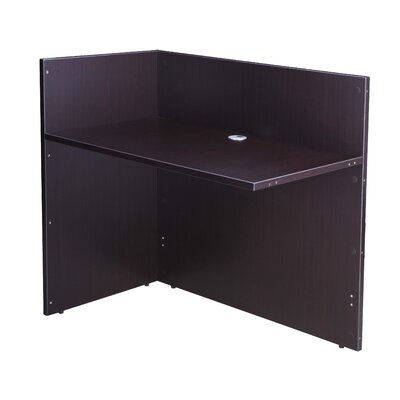 Reception 40 H x 42 W Reversible Desk Return Color: Mocha