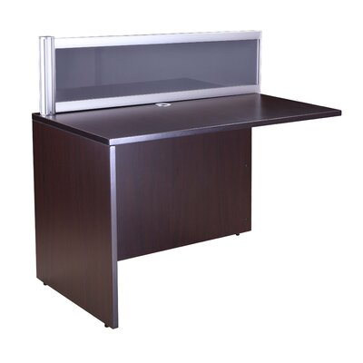 Reception 42.5 H x 36 W Reversible Desk Return Finish: Mocha