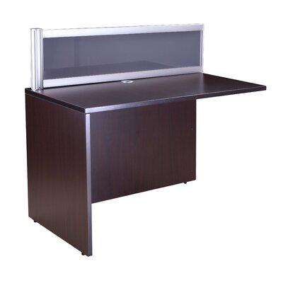 Reception 42.5 H x 48 W Reversible Desk Return Finish: Mocha