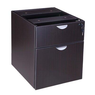 Case Goods 19 H x 16 W Desk File Pedestal Color: Mocha