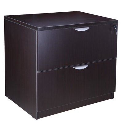 29 H x 31 W Desk File Pedestal Color: Mocha