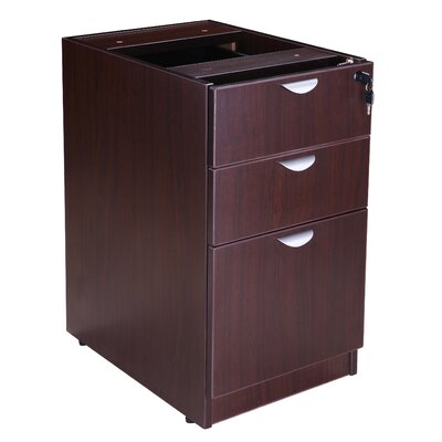 28.5 H x 16 W Desk File Pedestal Color: Mocha