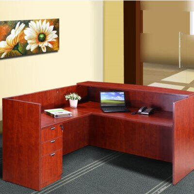 Reception 40 H x 42 W Reversible Desk Return Color: Cherry