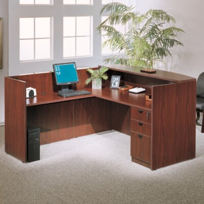 Reception 40 H x 42 W Reversible Desk Return Color: Mahogany