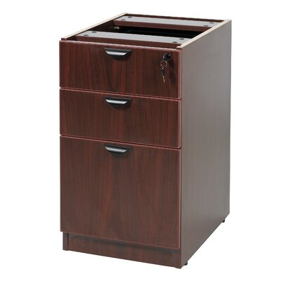28.5 H x 16 W Desk File Pedestal Finish: Mahogany