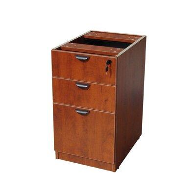 28.5 H x 16 W Desk File Pedestal Color: Cherry